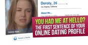 You Had Me at Hello? The First Sentence of Your Online Dating Profile