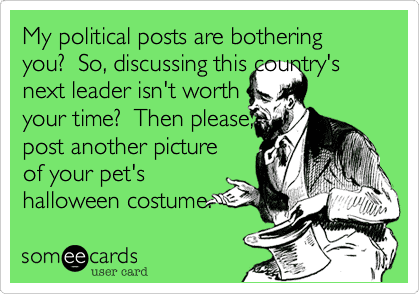 Your real feelings about politics and religion