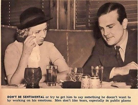 Don't be sentimental