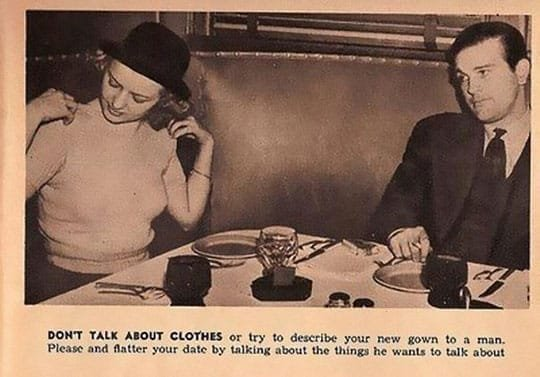 Don't talk about clothes