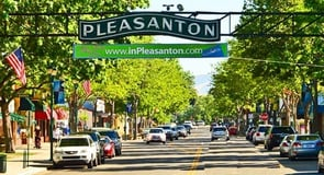 14. Pleasanton, California — 31,126 singles