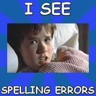 Check your spelling