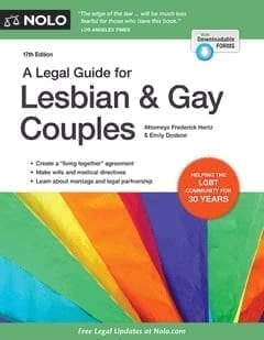 "The cover of the ""A Legal Guide for Lesbian & Gay Couples"" book"