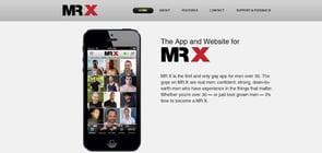 The MR X app