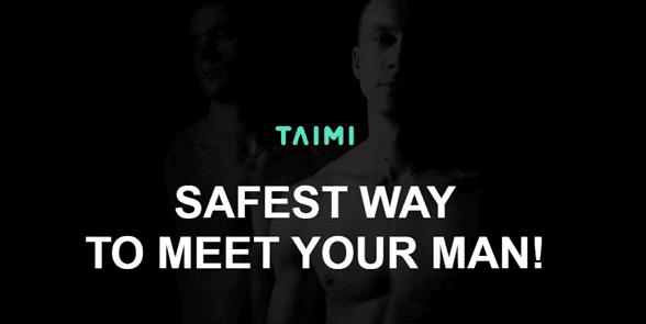 Screenshot of the Taimi homepage
