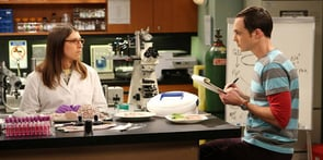 Photo of Amy and Sheldon From Big Bang Theory