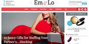 Screenshot of EmandLo.com homepage