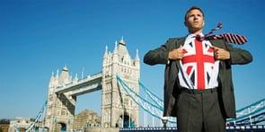 Photo of British man in front of London Bridge