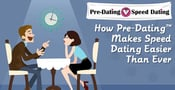 100+ Cities &#038; A Match Guarantee — <br>Pre-Dating&trade; Makes Speed Dating Easier Than Ever