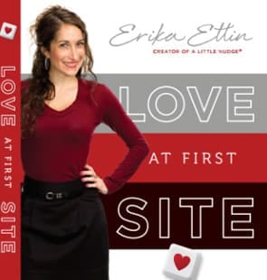 """Photo of Erika Ettin's book """"Love At First Site"""""""