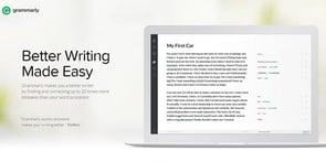 Screenshot of the Grammarly.com homepage