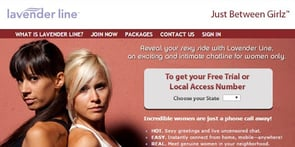 Screenshot of LavenderLine.com