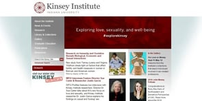 Screenshot The Kinsey Institute's homepage