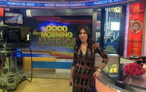 Photo of Andrea Syrtash on Good Morning America