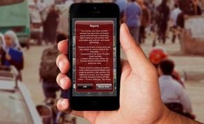 A screenshot of a Scruff Travel Advisory Alert