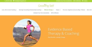 Screenshot of Growing Self's therapy page
