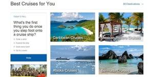Screenshot of Cruise Critic's website
