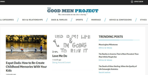 Screenshot of The Good Men Project homepage
