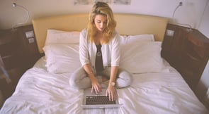 Photo of woman on a laptop