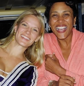 Photo of Robin Roberts and her wife, Amber Laign
