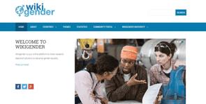 Screenshot of Wikigender's homepage