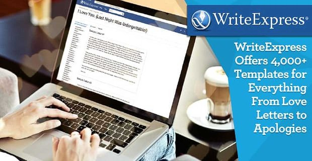 Writeexpress 4000 Templates From Love Letters To Apologies