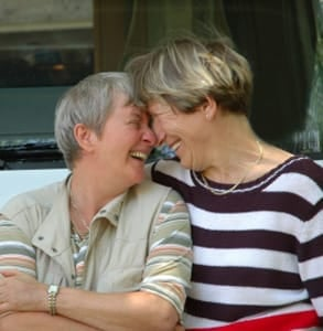 Picture of an older lesbian couple