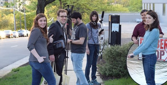 Picture of filmmakers working on a film for the 48 Hour Film Project