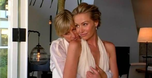 Picture of Ellen DeGeneres and Portia de Rossi