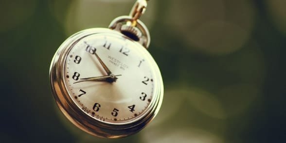 Photo of a ticking clock