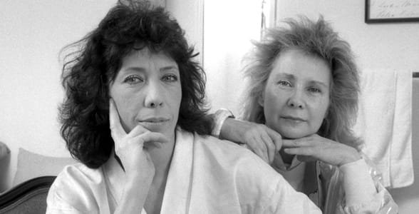Photo of Lily Tomlin and Jane Wagner, lesbian partners