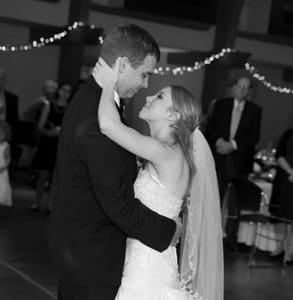 Photo of Blake, a Doc Love success story, and his wife on their wedding day
