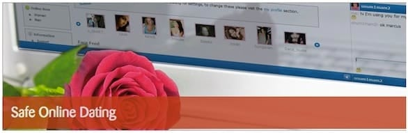 Screenshot of the Safe Online Dating guide