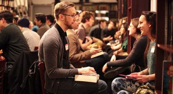Photo of a speed dating event