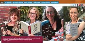 Screenshot of JWA's book club page