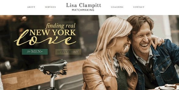 Photo of the Lisa Clampitt Matchmaking homepage