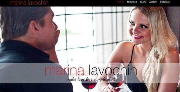 Screenshot of Marina Lavochin's homepage