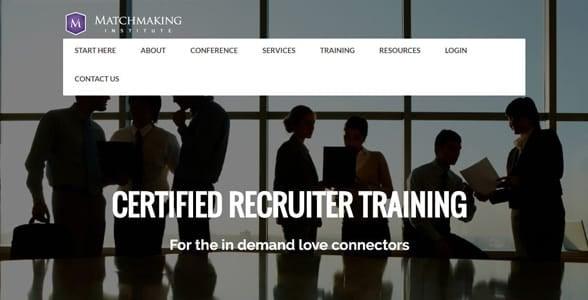Screenshot of MMI's recruiter training page