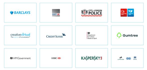 Screenshot of Get Safe Online's partners