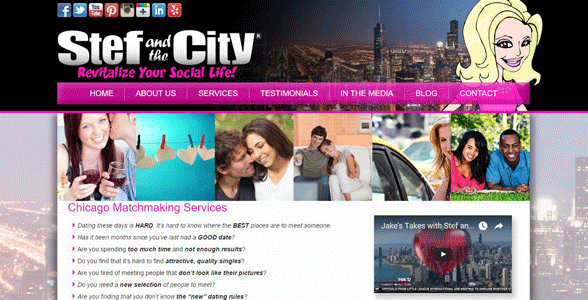 Screenshot of Stef and the City's homepage