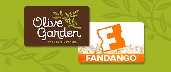 Screenshot of Olive Garden and Fandango logos