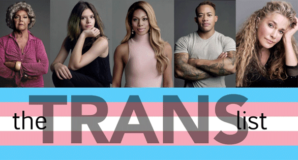 Screenshot of a promo for HBO's The Trans List
