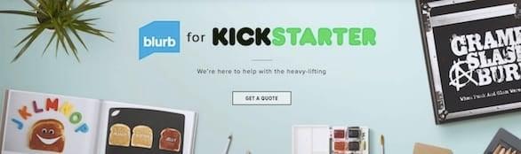 Screenshot of Blurb Kickstarter banner