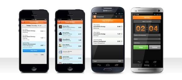 Screenshot of Harvest mobile apps