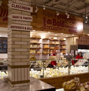 Photo of the inside of Murray's Cheese shop