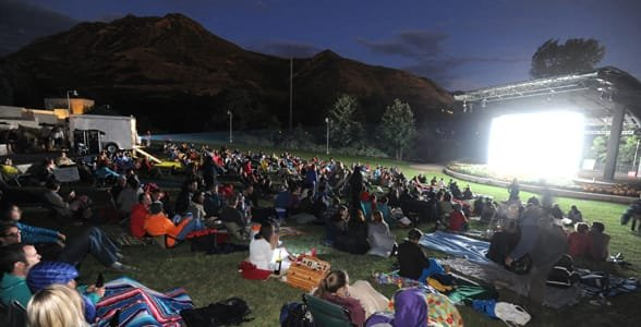 Photo of the Sundance movie showings at Red Butte Garden