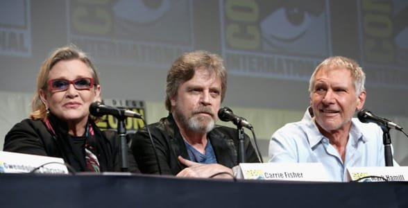 Photo of a Star Wars panel at Comic Con