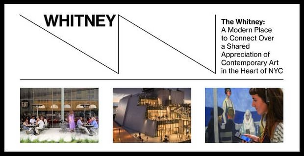The Whitney: A Modern Place to Connect Over a Shared Appreciation of Contemporary Art in the Heart of NYC