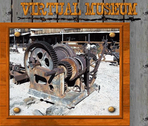 Photo of a mining winch in the GhostTowns.com Virtual Museum