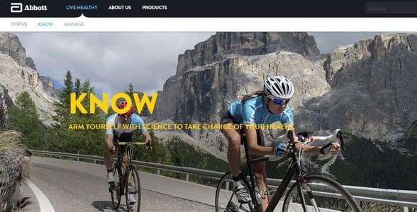 Screenshot of an Abbott webpage